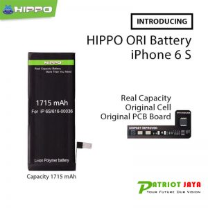 Jual Baterai Hippo Iphone 6S Original 1715 mAh Purwokerto Purbalingga