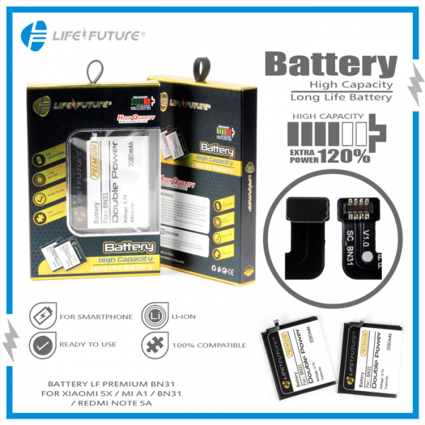 Jual baterai LF Xiaomi Redmi Note 5A MIA1 MI5X Purwokerto