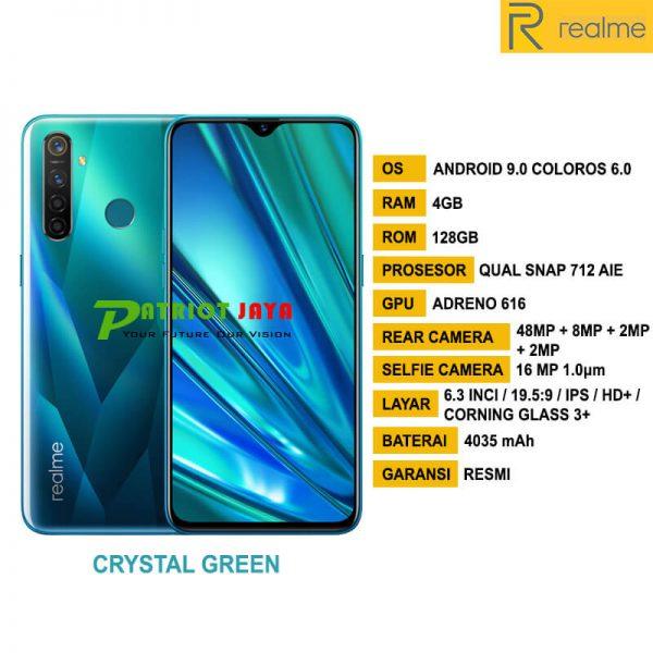 Jual RealMe 5 Pro Crystal Green di Purwokerto