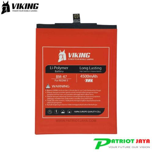 Harga Baterai Viking Xiaomi Redmi 3 dan 3 Pro BM47 Double Power