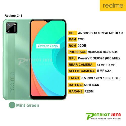 Harga dan Spesifikasi Realme C11 Mint Green