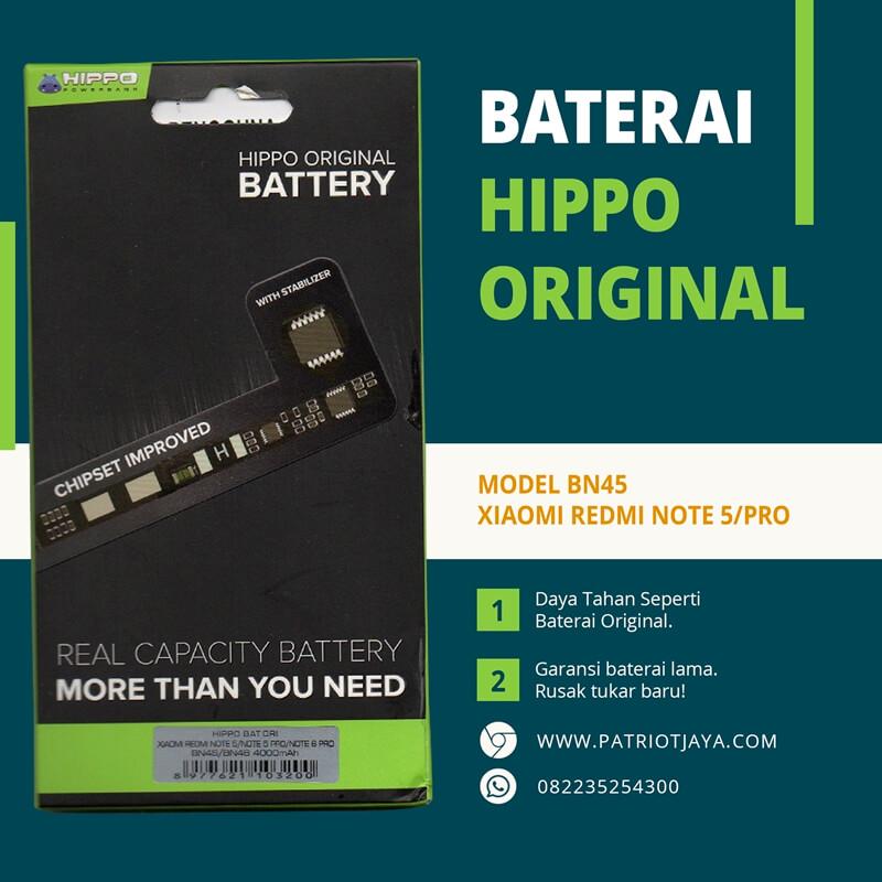 Harga Baterai Xiaomi Redmi Note 5 Pro BN45 Hippo Original