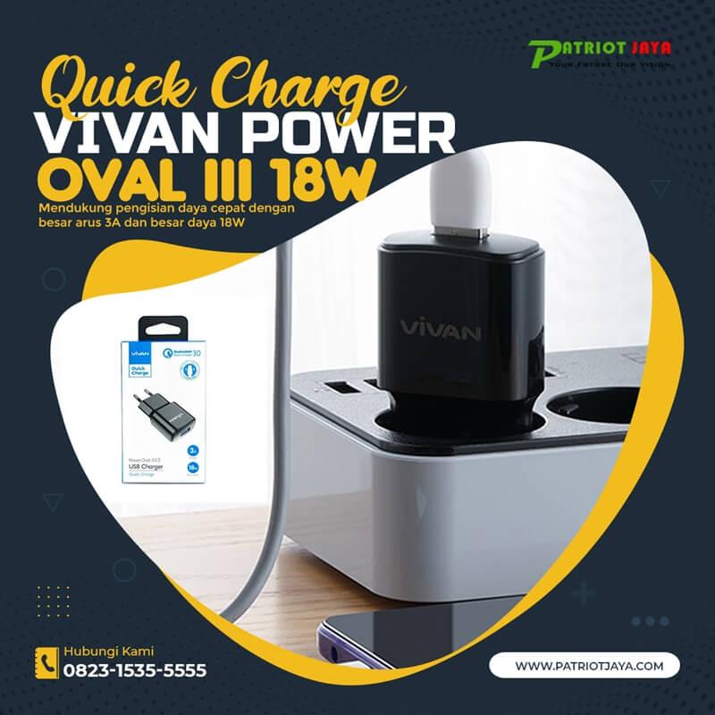 Harga VIVAN Power Oval 3 Quick Charge 18W